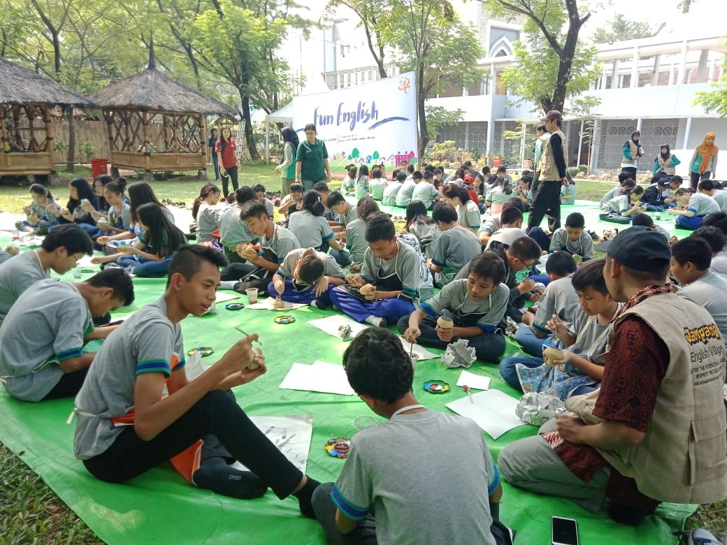 Belajar Digital Learning Story Telling, Sekolah Citra Berkat berkunjung ke Wisata Djampang Zona Madina